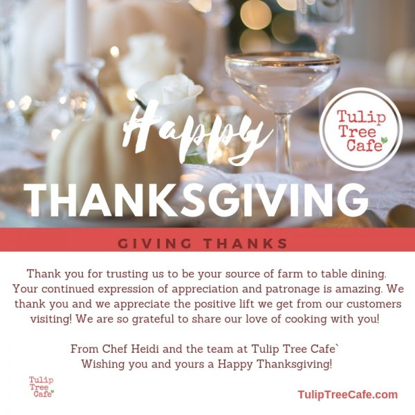 We're Cooking up some THANKS for Thanksgiving Dinner!